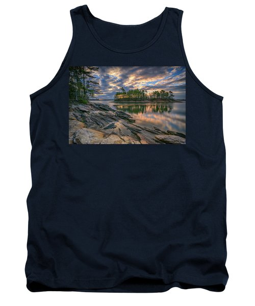 Tank Top featuring the photograph Dawn At Wolfe's Neck Woods by Rick Berk
