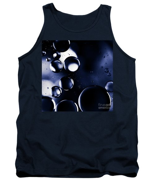 Tank Top featuring the photograph deep purple blue tones Macro Water Droplets by Sharon Mau