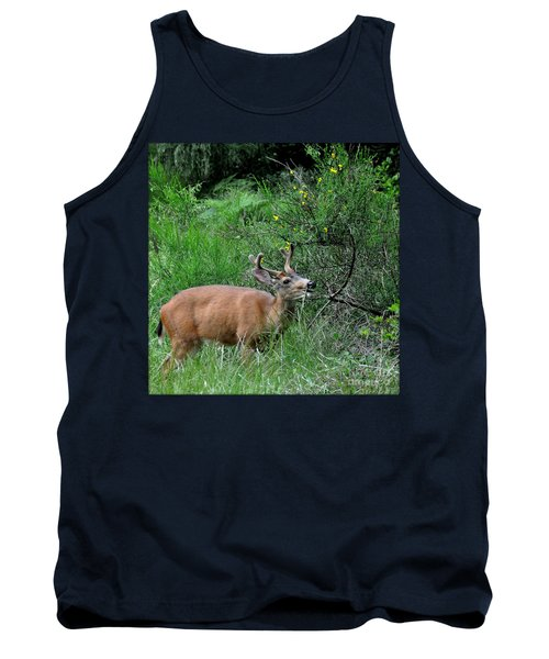 Tank Top featuring the photograph Deer Brunch by Tanya Searcy