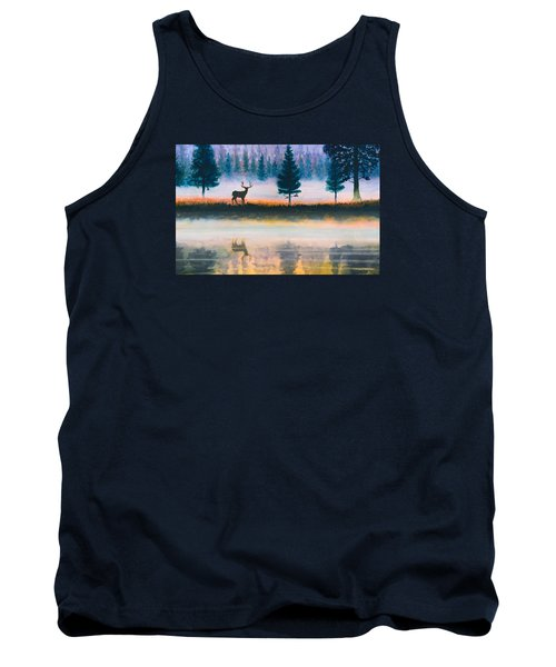 Deer Morning Tank Top by Douglas Castleman