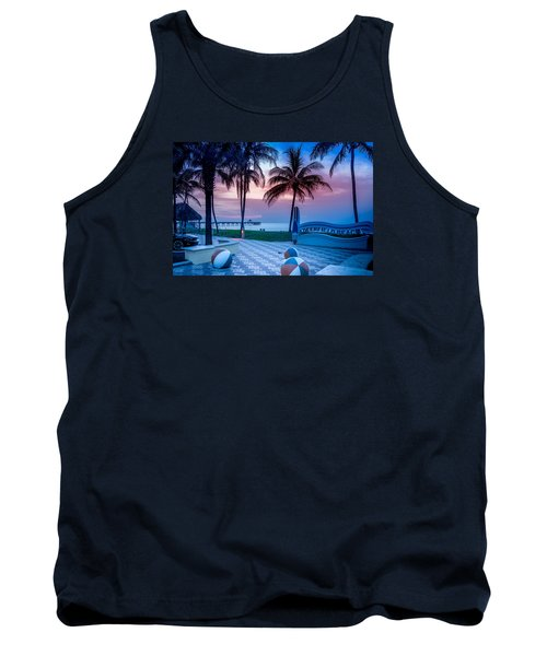 Deerfield Beach Fl Fishing Pier Tank Top by Louis Ferreira