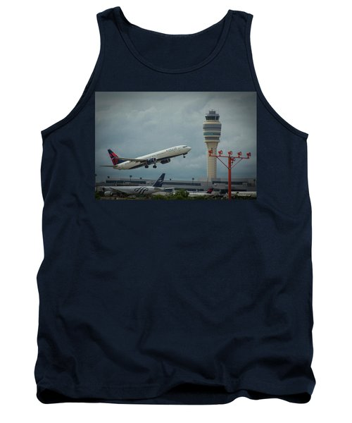 Delta Airlines Airplane N835dn Hartsfield Jackson Atlanta International Airport Art Tank Top