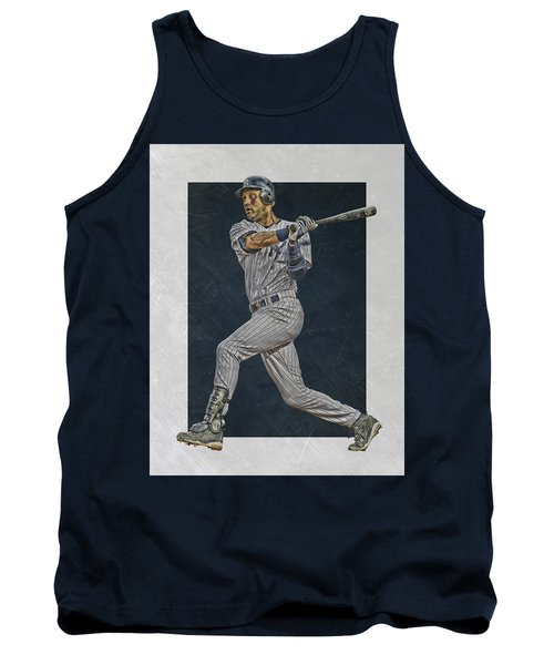 Derek Jeter New York Yankees Art 2 Tank Top by Joe Hamilton