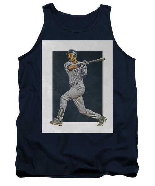 Derek Jeter New York Yankees Art 2 Tank Top