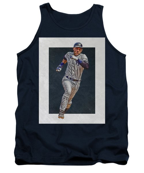 Derek Jeter New York Yankees Art 3 Tank Top by Joe Hamilton
