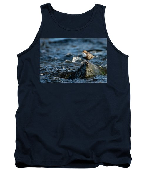 Tank Top featuring the photograph Dipper On The Rock by Torbjorn Swenelius