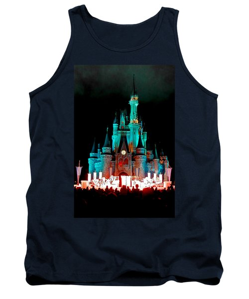 Tank Top featuring the photograph Disney World Night by John Haldane