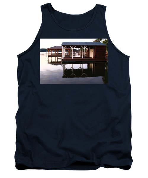 Dock Reflections Tank Top by Catie Canetti