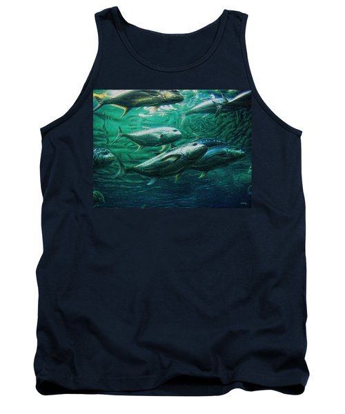 Tank Top featuring the photograph Don't Mess With Bluefin Jack by Glenn McCarthy