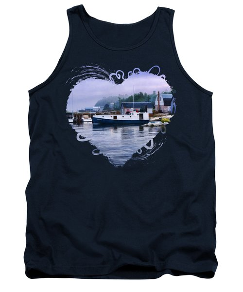 Door County Gills Rock Fishing Village Tank Top