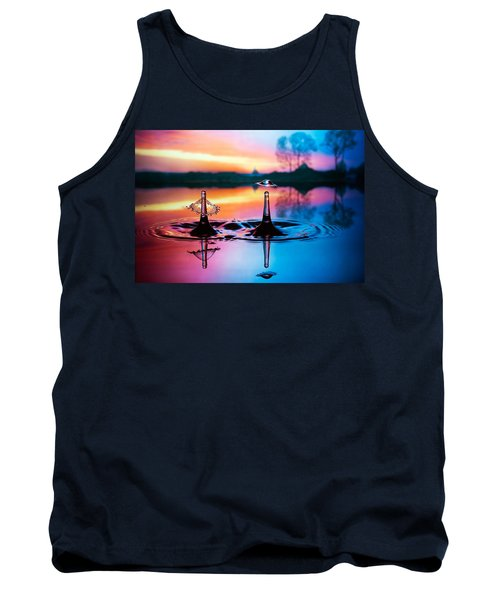 Double Liquid Art Tank Top