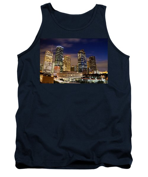 Downtown Houston At Night Tank Top