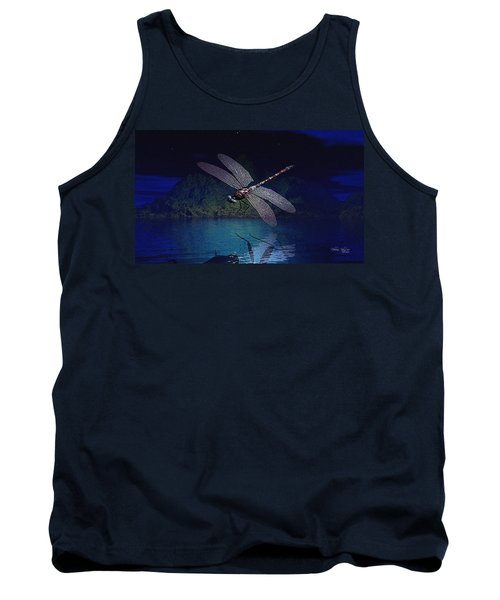 Dragonfly Night Reflections Tank Top