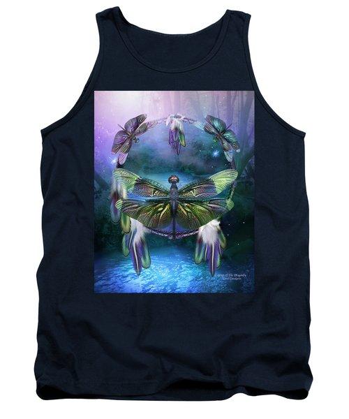 Dream Catcher - Spirit Of The Dragonfly Tank Top
