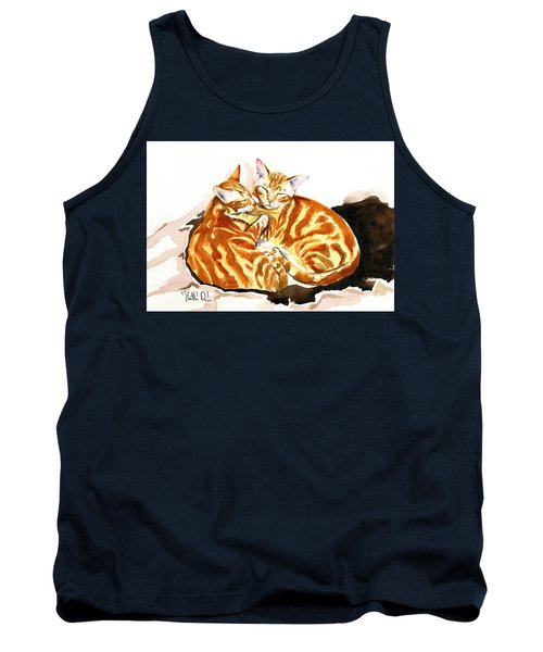 Dreaming Of Ginger - Orange Tabby Cat Painting Tank Top
