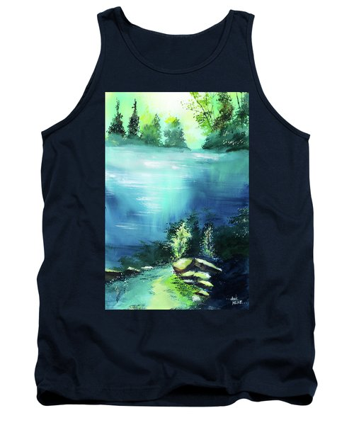 Tank Top featuring the painting Duality by Anil Nene