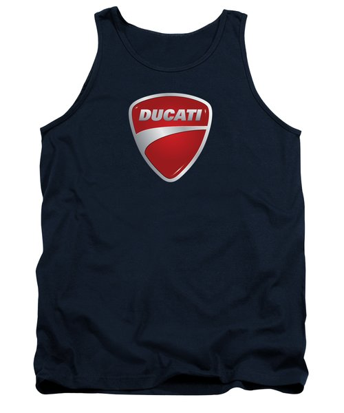 Tank Top featuring the photograph Ducati By Moonlight by Movie Poster Prints