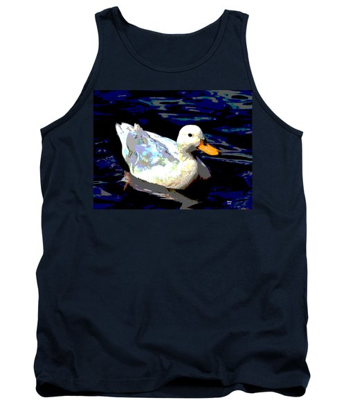 Duck In Water Tank Top by Charles Shoup