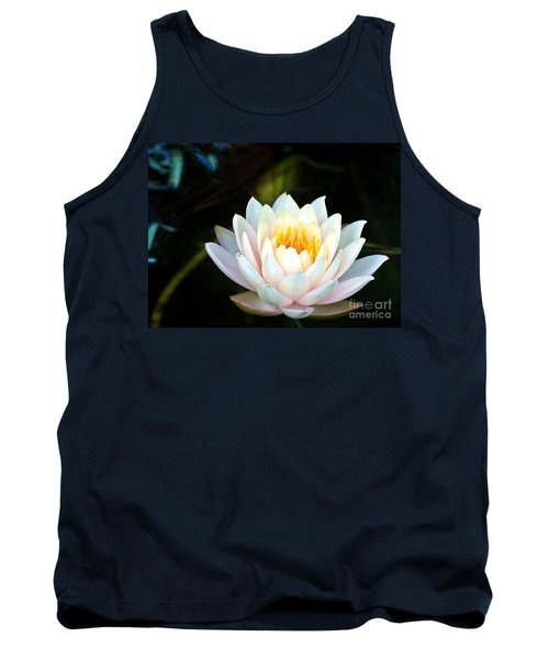 Elegant White Water Lily Tank Top