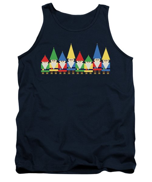Elves On Blue Tank Top