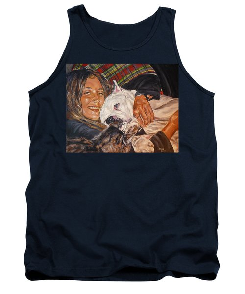 Elvis And Friend Tank Top by Bryan Bustard