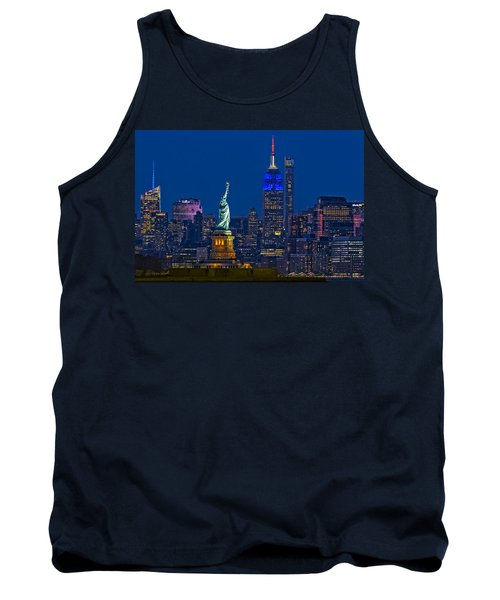 Empire State And Statue Of Liberty II Tank Top