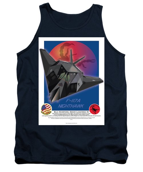 Tank Top featuring the drawing F117a Nighthawk by Kenneth De Tore