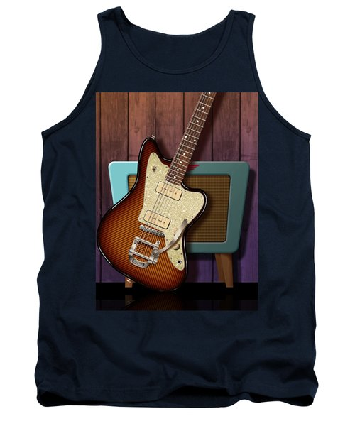 Tank Top featuring the digital art Fano Retro by WB Johnston