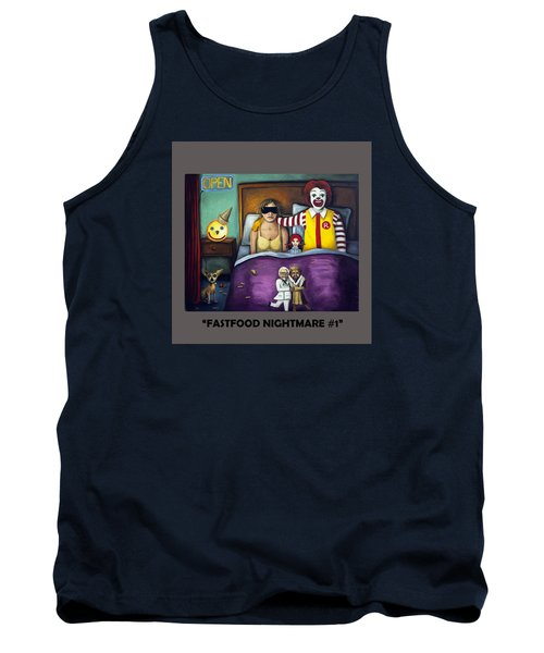 Fast Food Nightmare With Lettering Tank Top