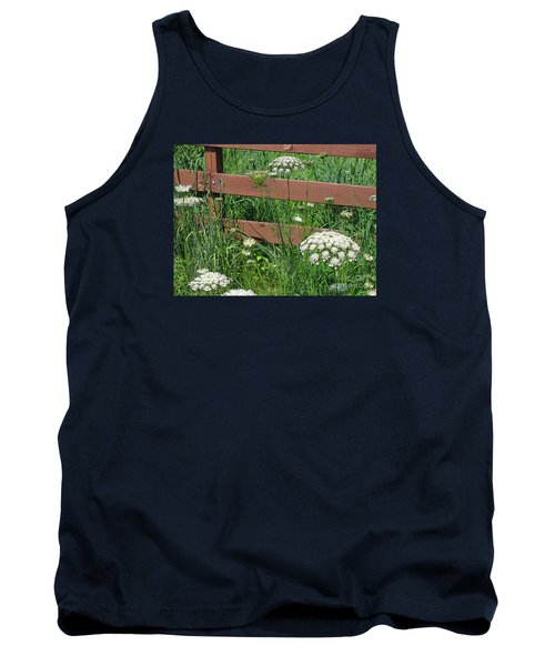 Tank Top featuring the photograph Field Of Lace by Ann Horn