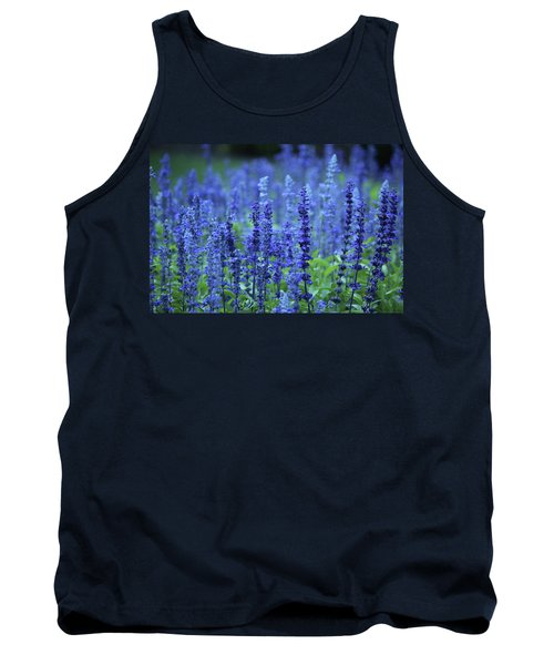 Tank Top featuring the photograph Fields Of Blue by Rowana Ray