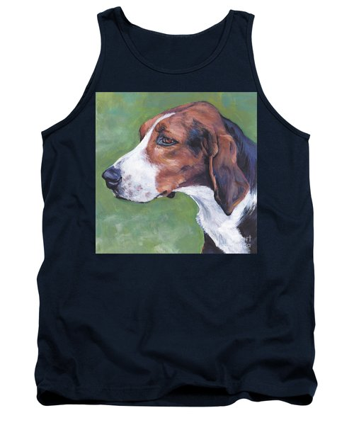 Tank Top featuring the painting Finnish Hound by Lee Ann Shepard