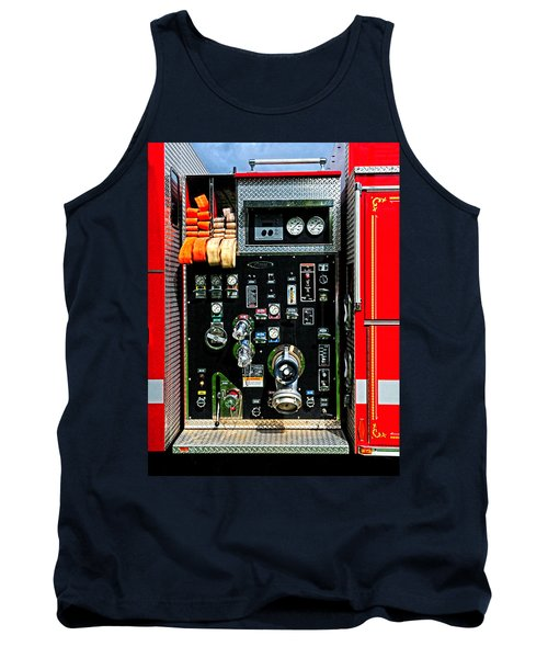 Fire Truck Control Panel Tank Top by Dave Mills
