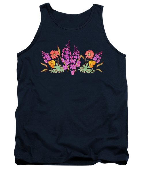 Fireweed And Poppies Cascade Tank Top by Teresa Ascone