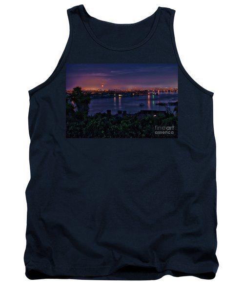 First Moonset Of 2018 Tank Top