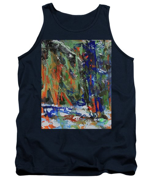 Tank Top featuring the painting First Snow Over Tenaya Creek by Walter Fahmy