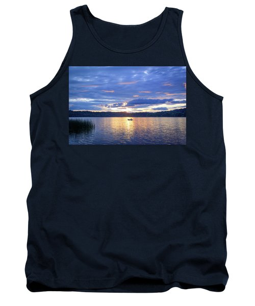 Fisherman Heading Home Tank Top by Keith Boone