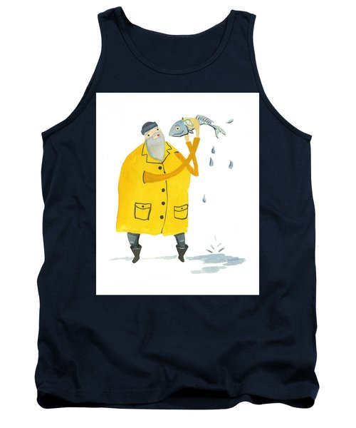 Tank Top featuring the painting Fisherman by Leanne WILKES