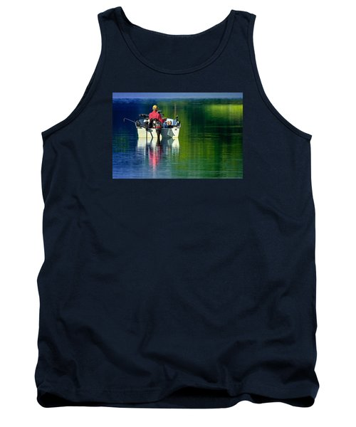 Tank Top featuring the photograph Fishing And Wishing 2 by Brian Stevens