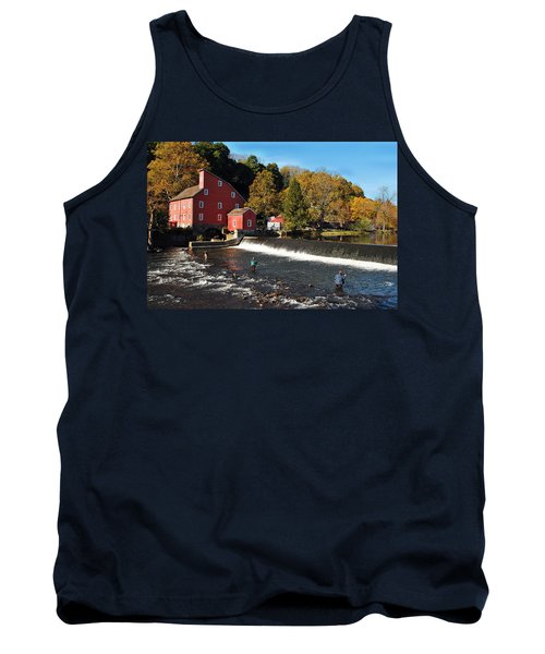 Fishing At The Old Mill Tank Top