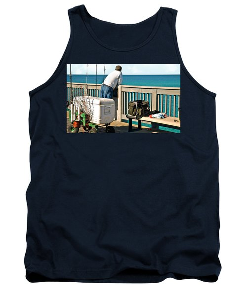 Fishing At The Pier Tank Top