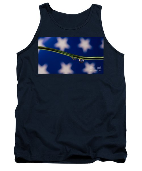 flag on a Wire Tank Top