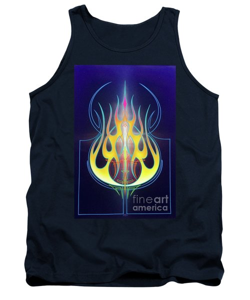 Flaming Bass Note Tank Top