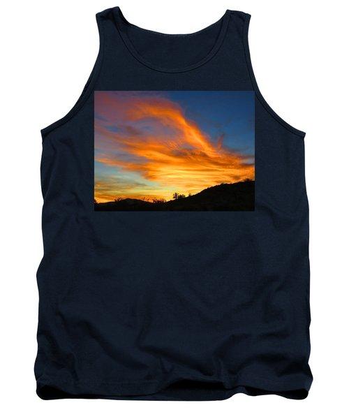 Flaming Hand Sunset Tank Top