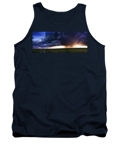 Flint Hills Storm Panorama  Tank Top