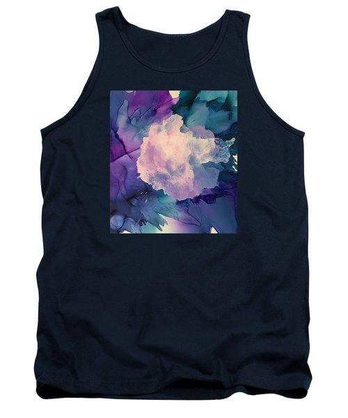Tank Top featuring the painting Floral Abstract by Suzanne Canner