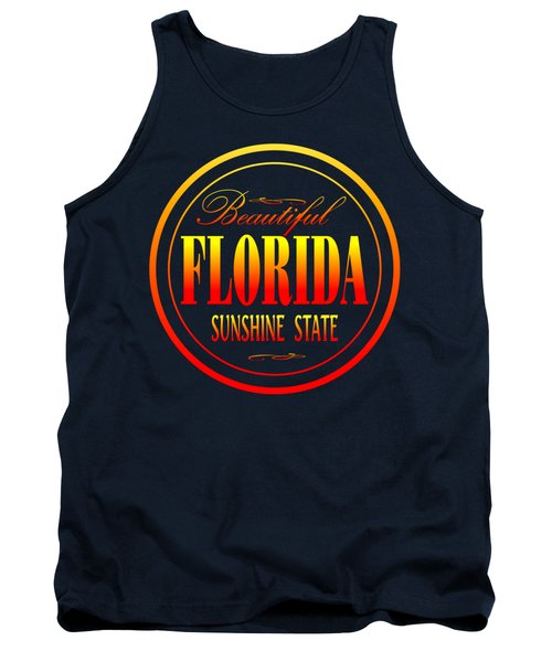 Florida Sunshine State - Tshirt Design Tank Top by Art America Gallery Peter Potter