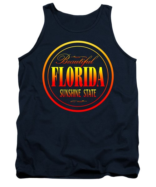 Florida Sunshine State Design Tank Top