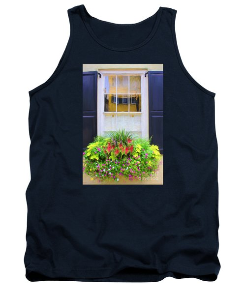 Flowers And Reflections Tank Top