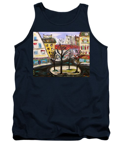 Tank Top featuring the painting Flowers At The Corner by Mary Carol Williams